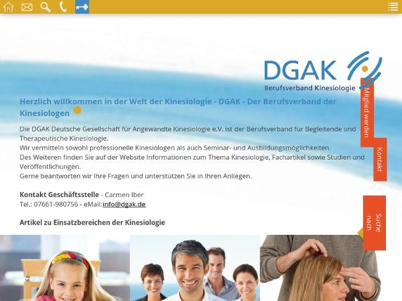 Screenshot von http://dgak.de